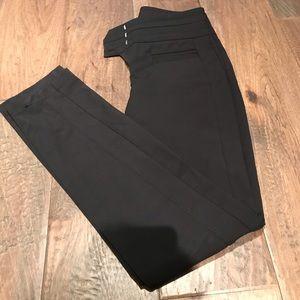 Dressy black high waist dress pant.